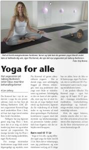 gladsaxe bladet artikel Yoga